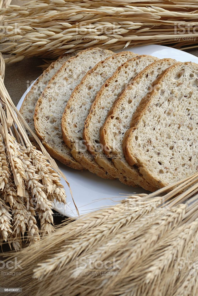 Bread and corn royalty-free stock photo