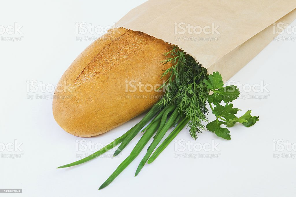 Bread and greens royalty free stockfoto