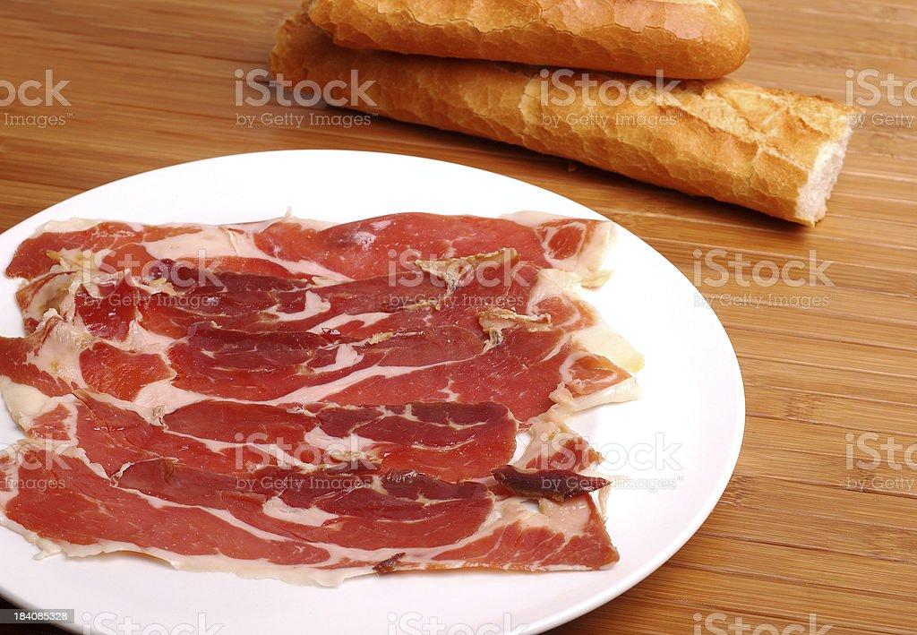 Bread and ham royalty-free stock photo