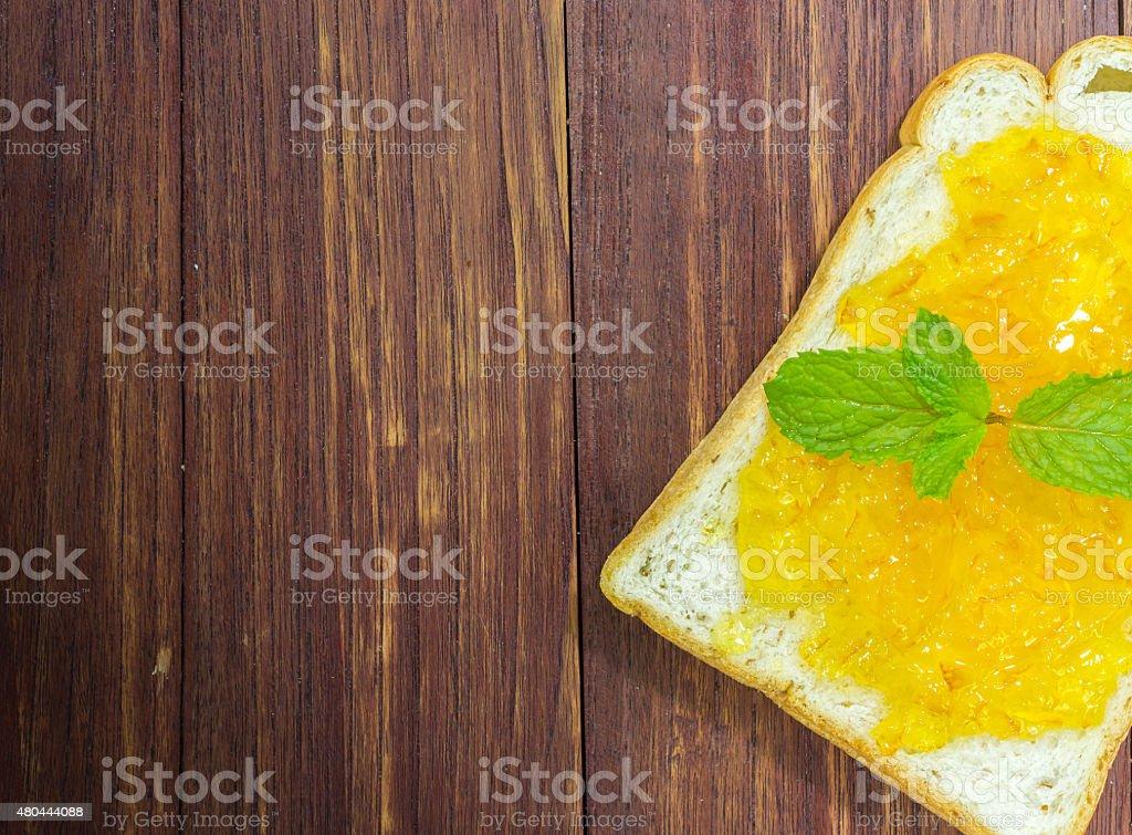 Brot und Marmelade-orange – Foto