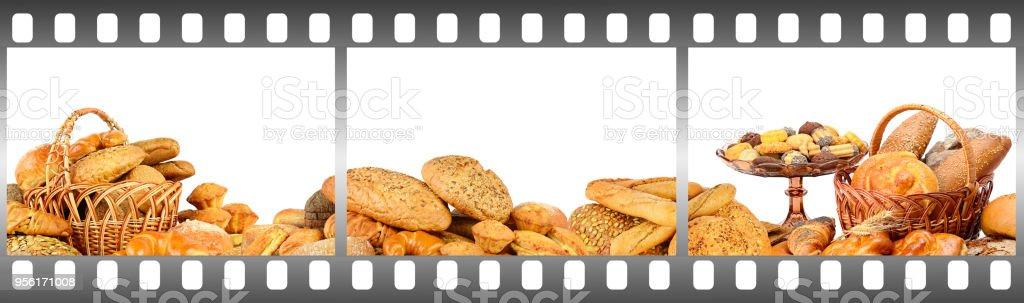 Pain et pâtisseries dans le cadre - Photo
