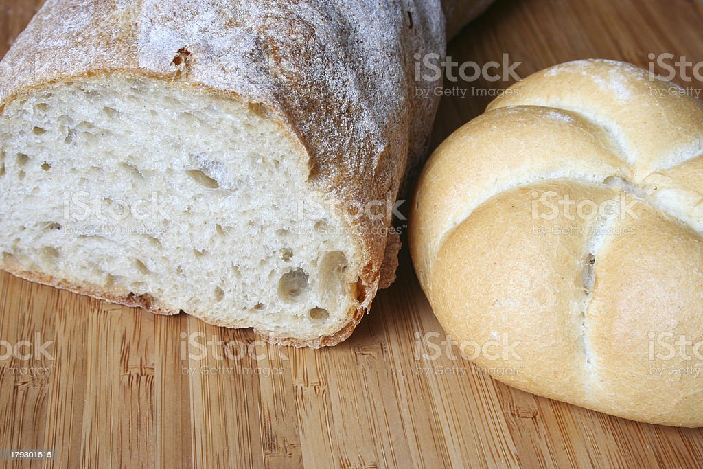 Bread and roll stock photo