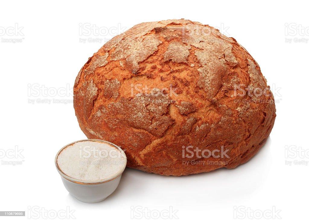 Bread and salt stock photo