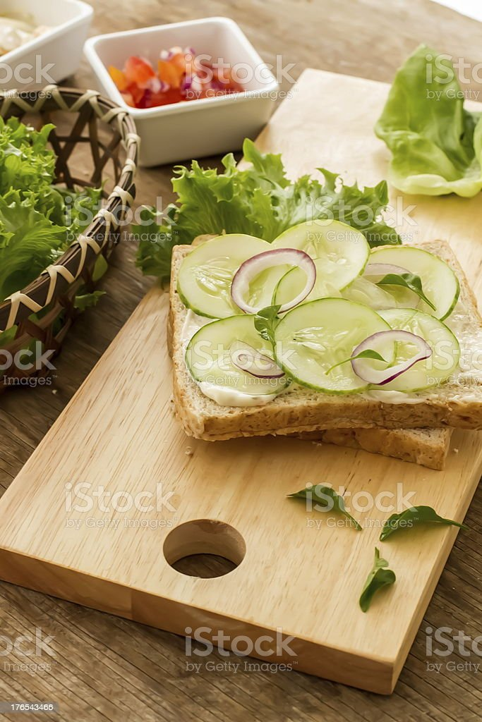bread and vegetable royalty-free stock photo