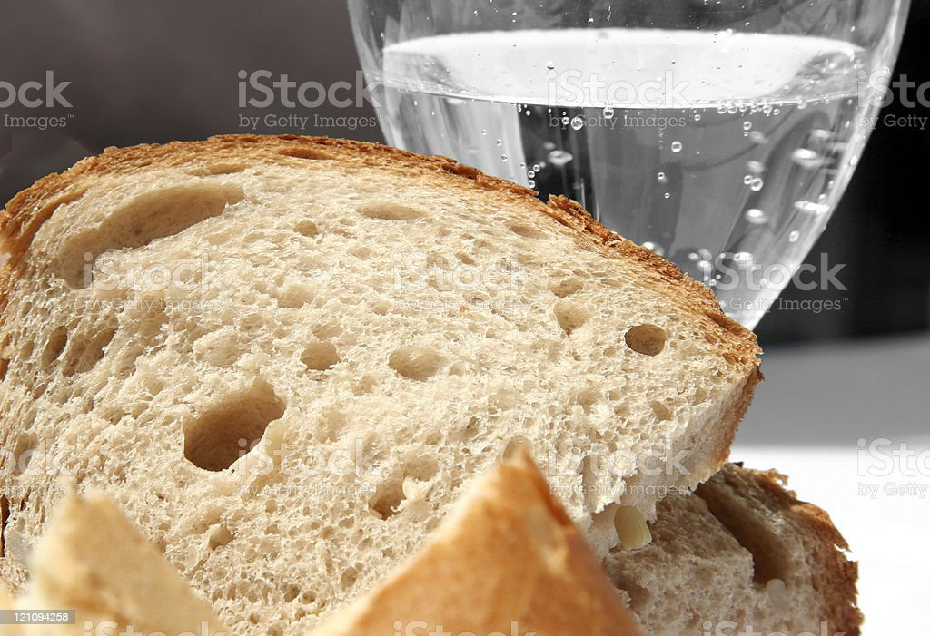 Bread and Water royalty-free stock photo
