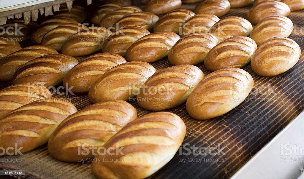Bread at the bakery stock photo