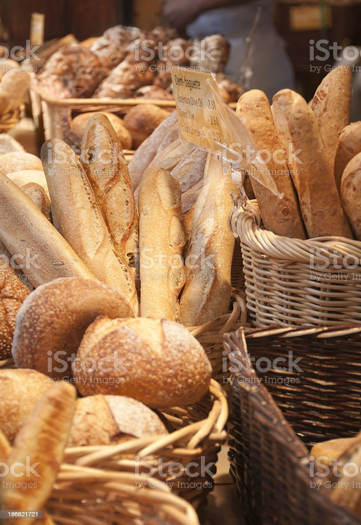 Bread at the bakery stock photo