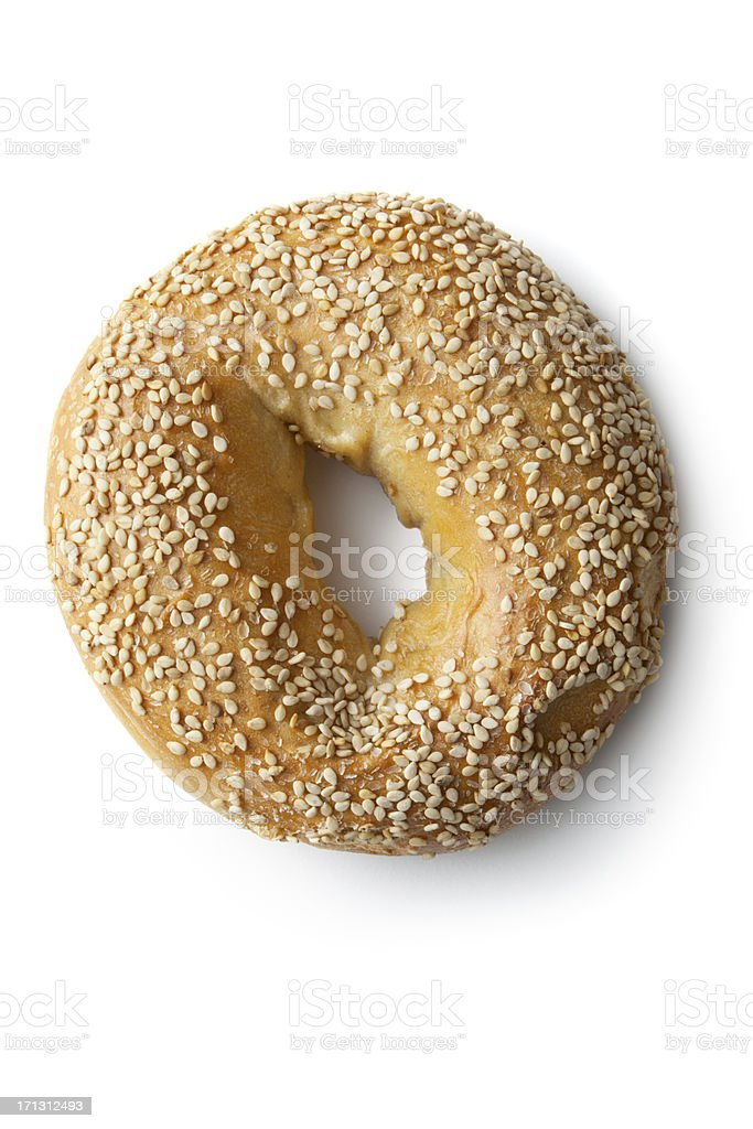 Bread: Bagel Isolated on White Background stock photo
