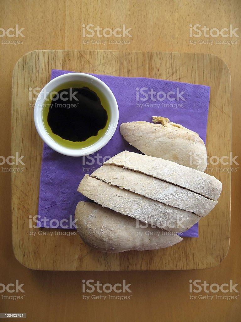 Bread Balsamic Dip royalty-free stock photo