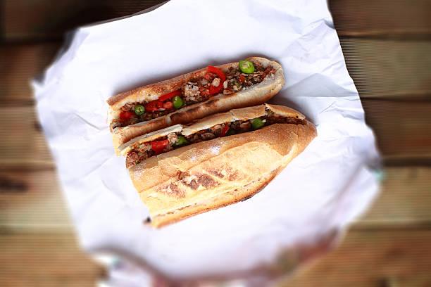 bread between kokorec - kokoreç bildbanksfoton och bilder