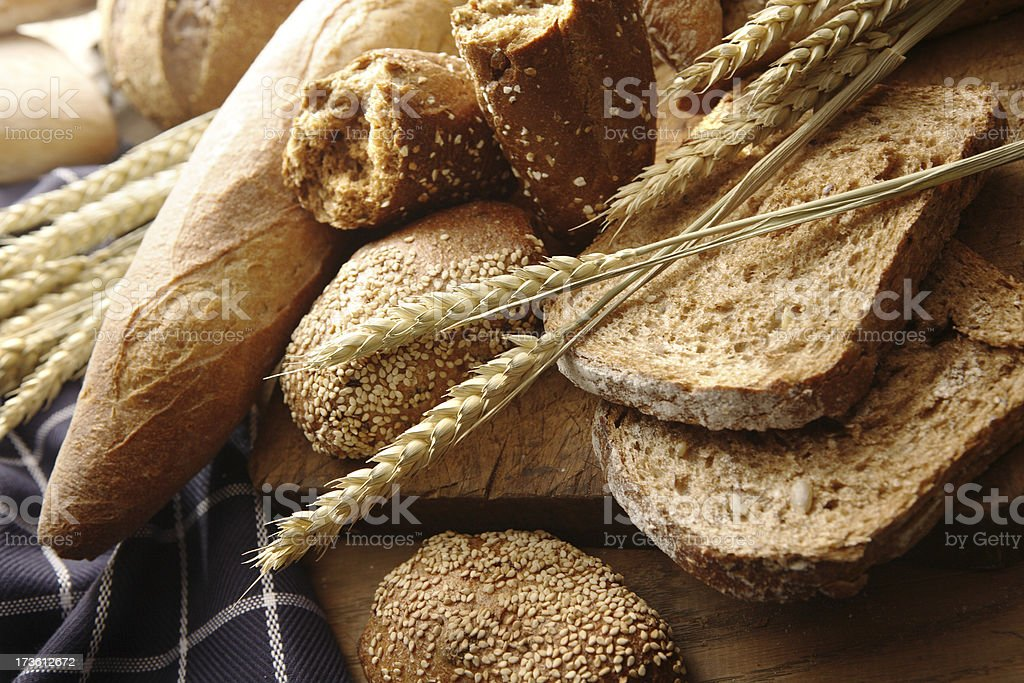 Bread: Bread Variety Still Life stock photo