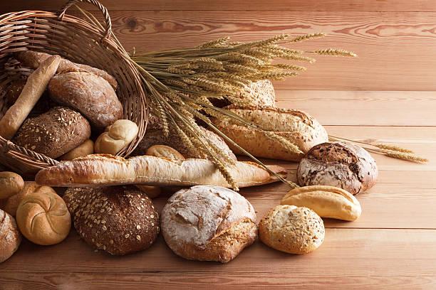 Bread: Bread Variety Still Life stock photo