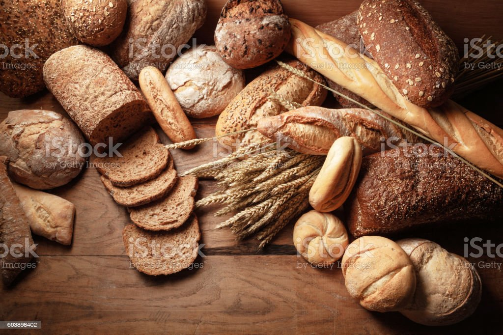 Brood: Brood verscheidenheid stilleven​​​ foto