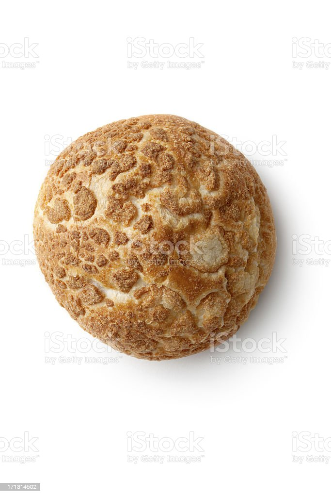 Bread: Bun Isolated on White Background royalty-free stock photo