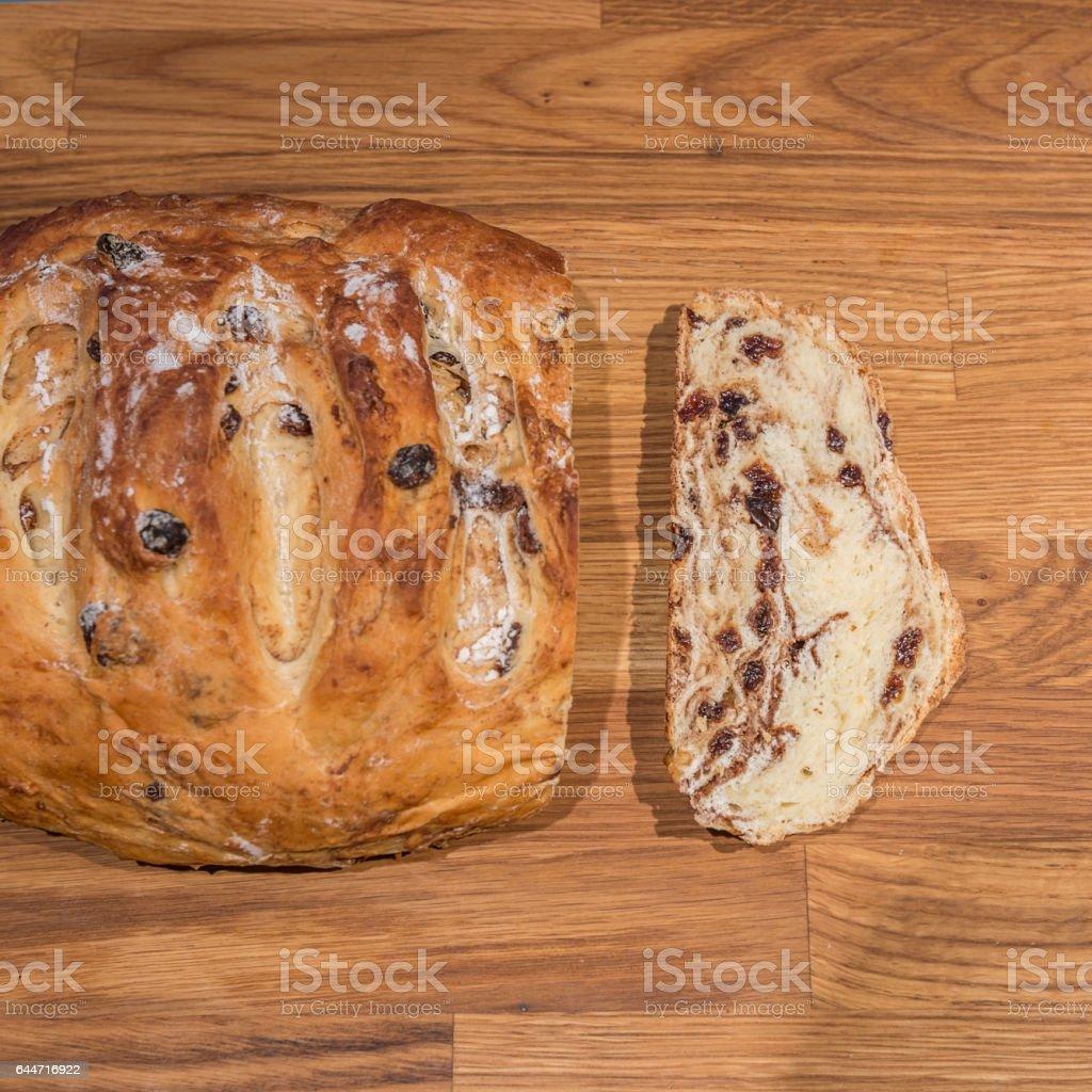 Bread, Cinnamon Raisin stock photo