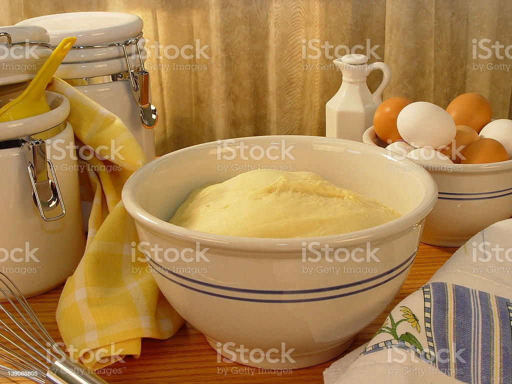 Bread Dough Rising royalty-free stock photo