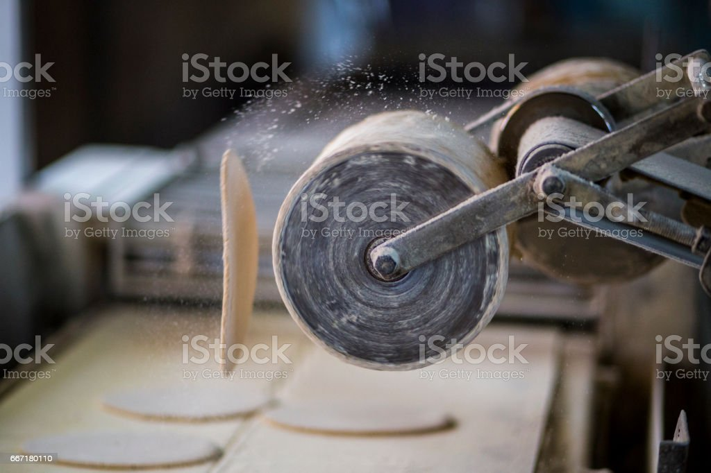 Bread factory stock photo