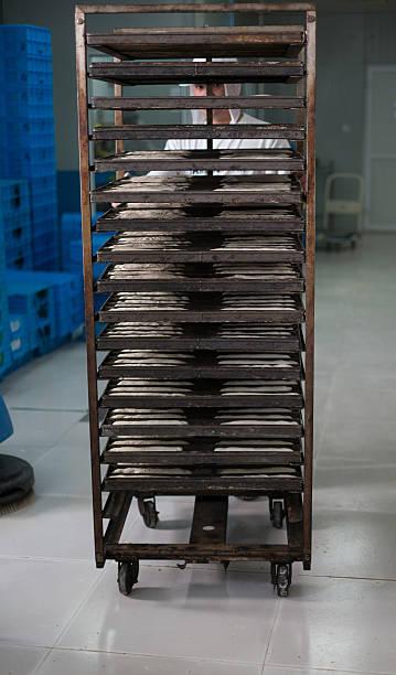 Brot Fabrik Arbeiter Blick in die Kamera – Foto