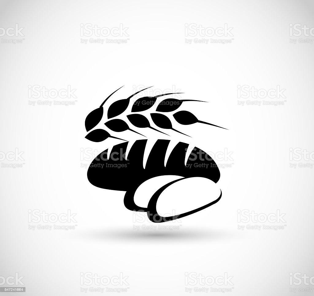 Bread icon vector illustration stock photo