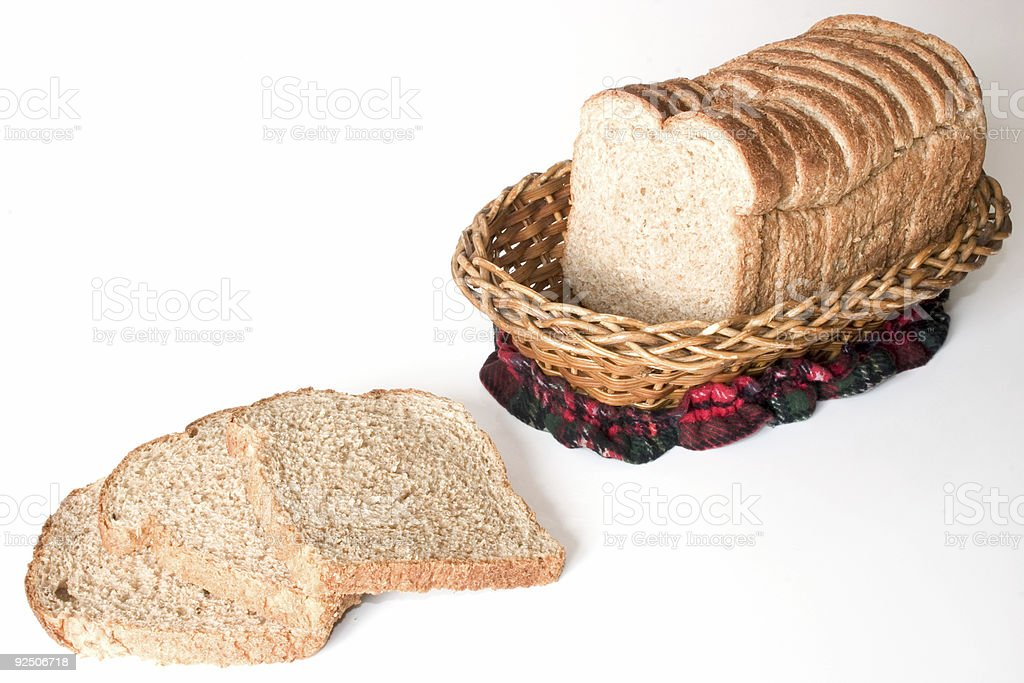 Bread in a basket royalty-free stock photo