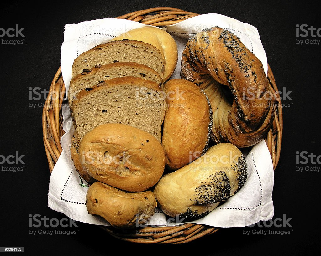 bread in basket royalty-free stock photo