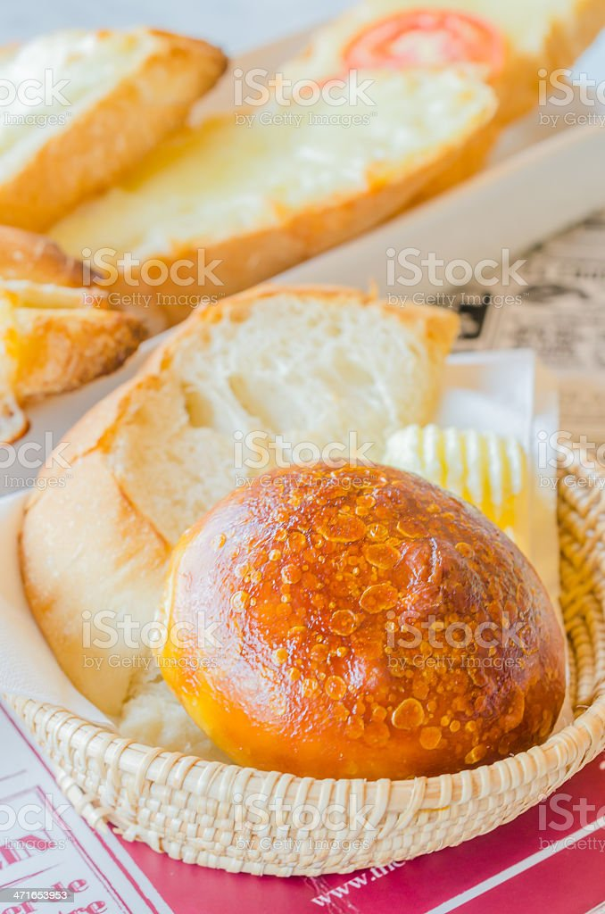 Bread in the basket royalty-free stock photo