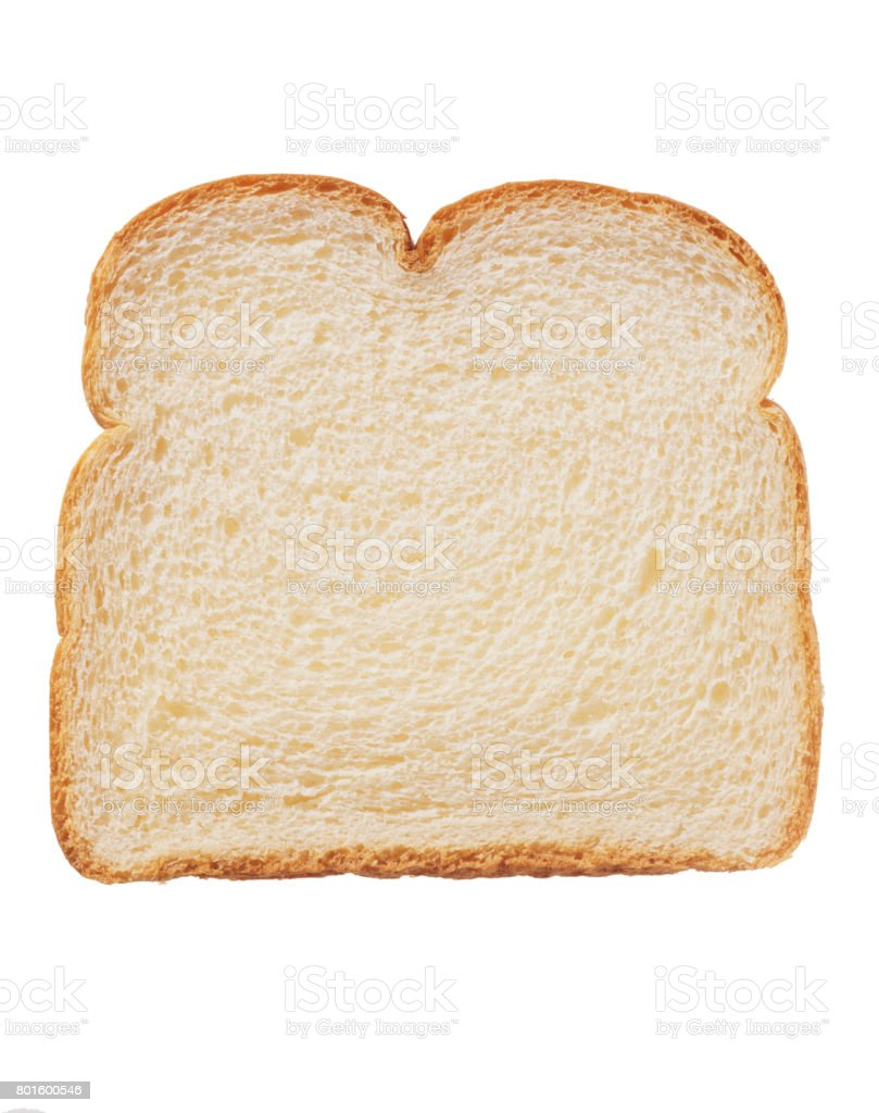 Bread isolated on white background stock photo