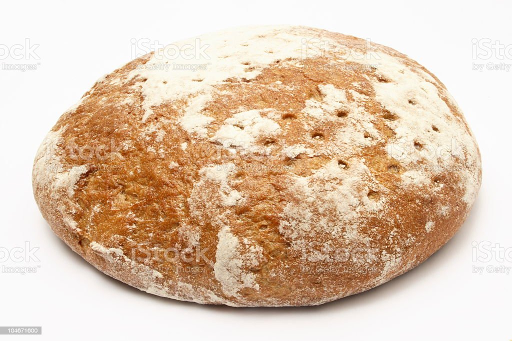 Bread - isolated on white royalty-free stock photo
