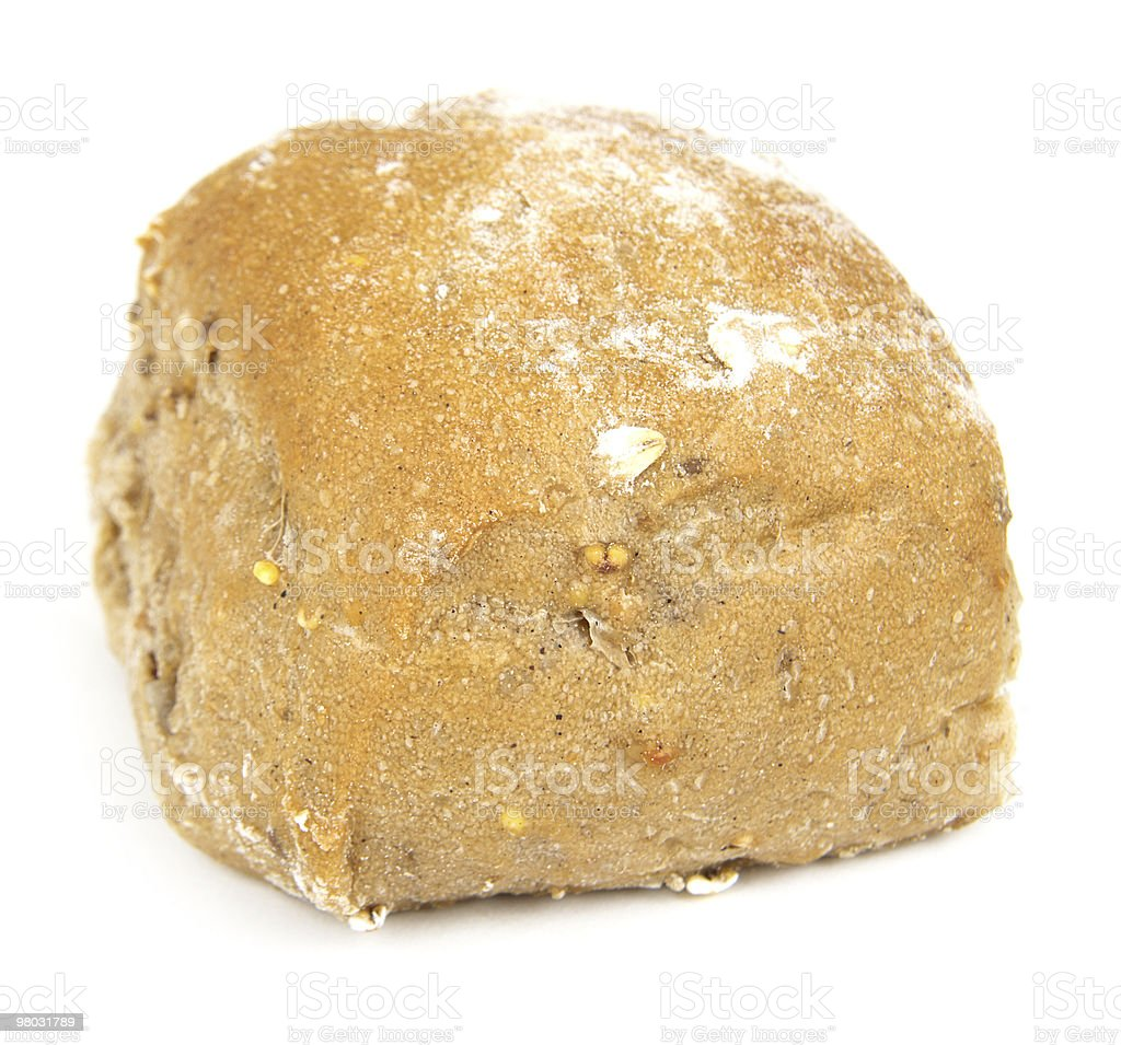 bread isolated on white royalty-free stock photo