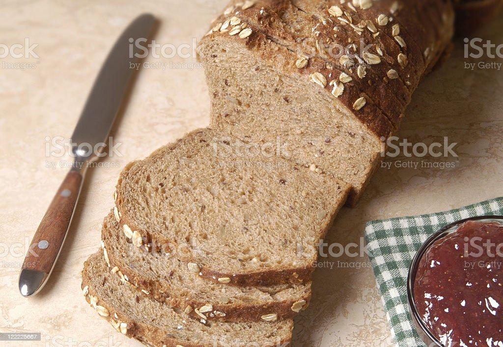 Bread & Jam--Whole Wheat Multigrain royalty-free stock photo