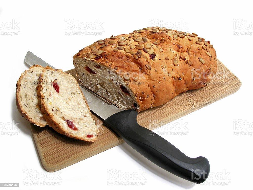 Bread knife board royalty-free stock photo