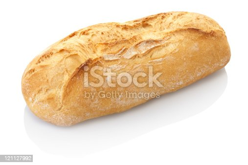 Bread isolated on white, clipping path included XXXL