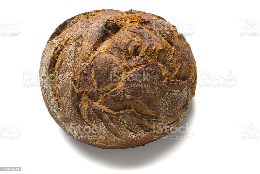 bread loaf with white shadow royalty-free stock photo