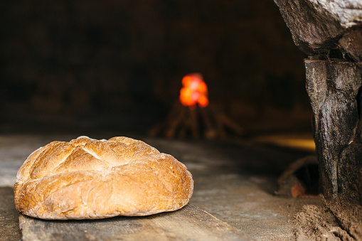 Bread Made In A Wood Fired Oven Stock Photo - Download Image Now