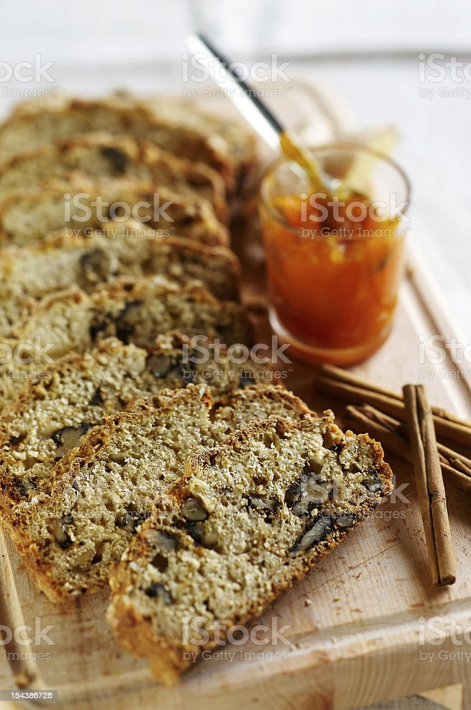 Bread made of pumpkin seed and chestnut royalty-free stock photo