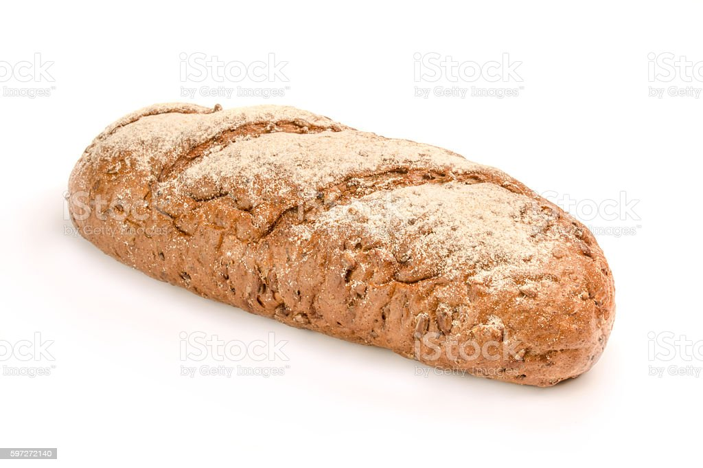 Bread on a white background royalty-free stock photo
