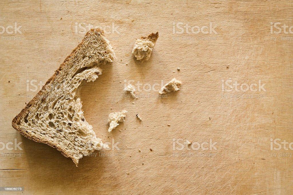 Bread on cutting board stock photo