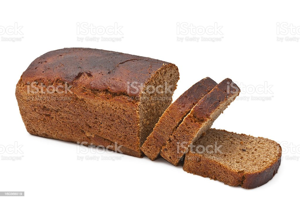 Bread on white background royalty-free stock photo