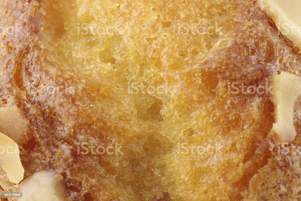 Bread or cake closeup stock photo