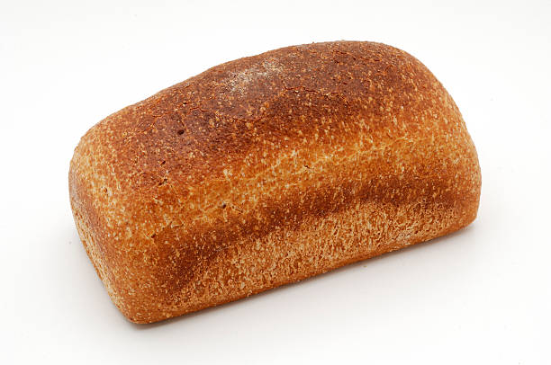 Bread over white background stock photo