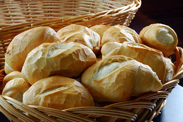 Bread Basket of French bread bread stock pictures, royalty-free photos & images