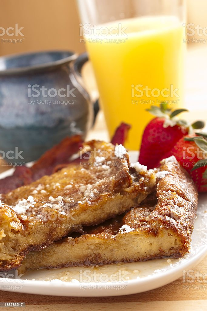 Bread pudding french toast royalty-free stock photo