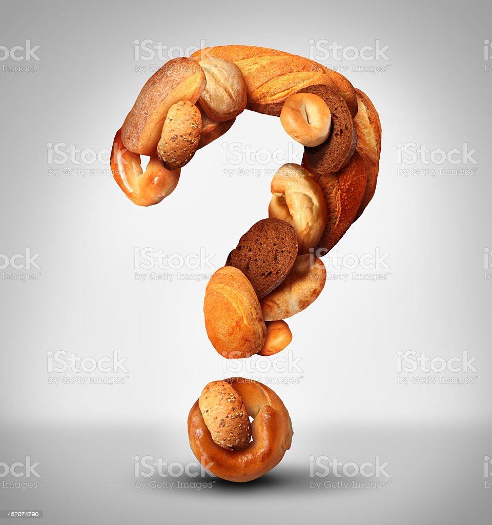 Bread Question stock photo