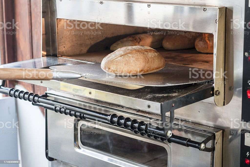 Bread Rolls Baking In An Oven royalty-free stock photo