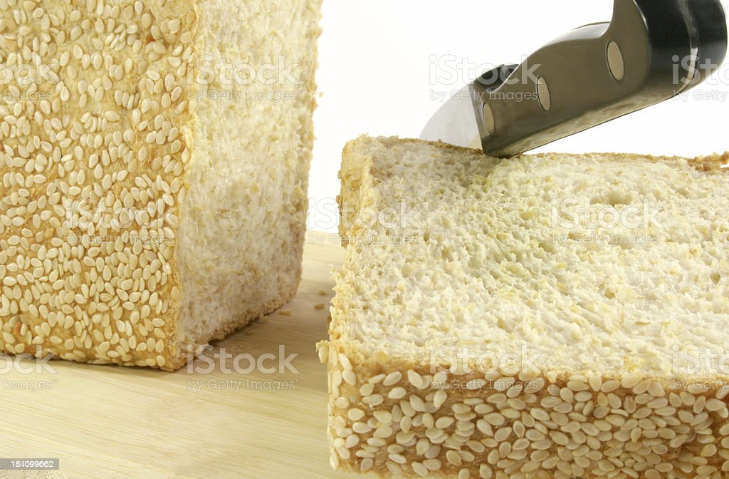 bread slice and knife - Royalty-free Baked Stock Photo