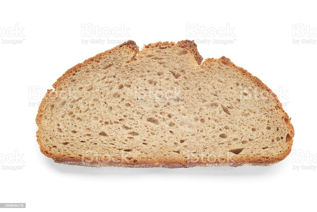 bread slice on white with shadow royalty-free stock photo