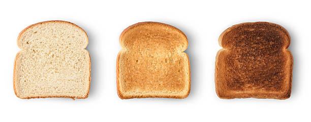 bread slices stock photo