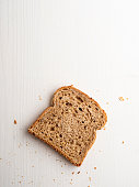 Bread, Toasted Bread, Celebratory Toast, Slice of Food, White Background,food,Brown Bread