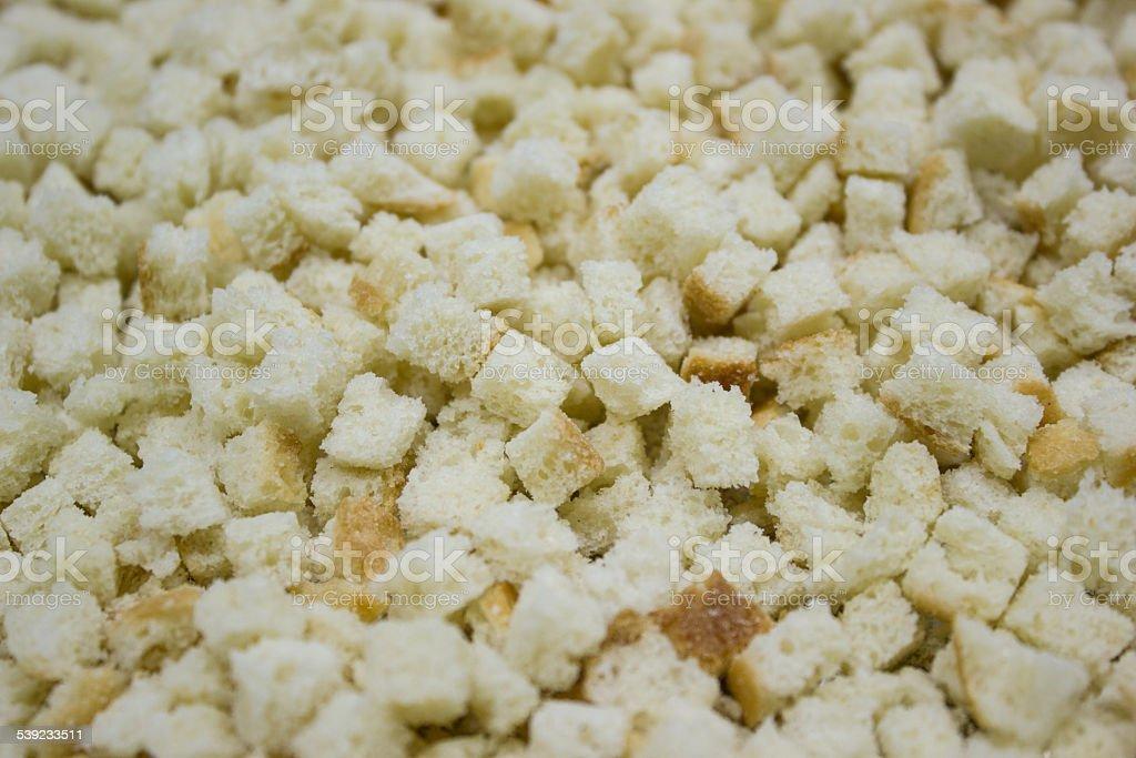 Pão de pequenas praças, croutons artesanais foto royalty-free
