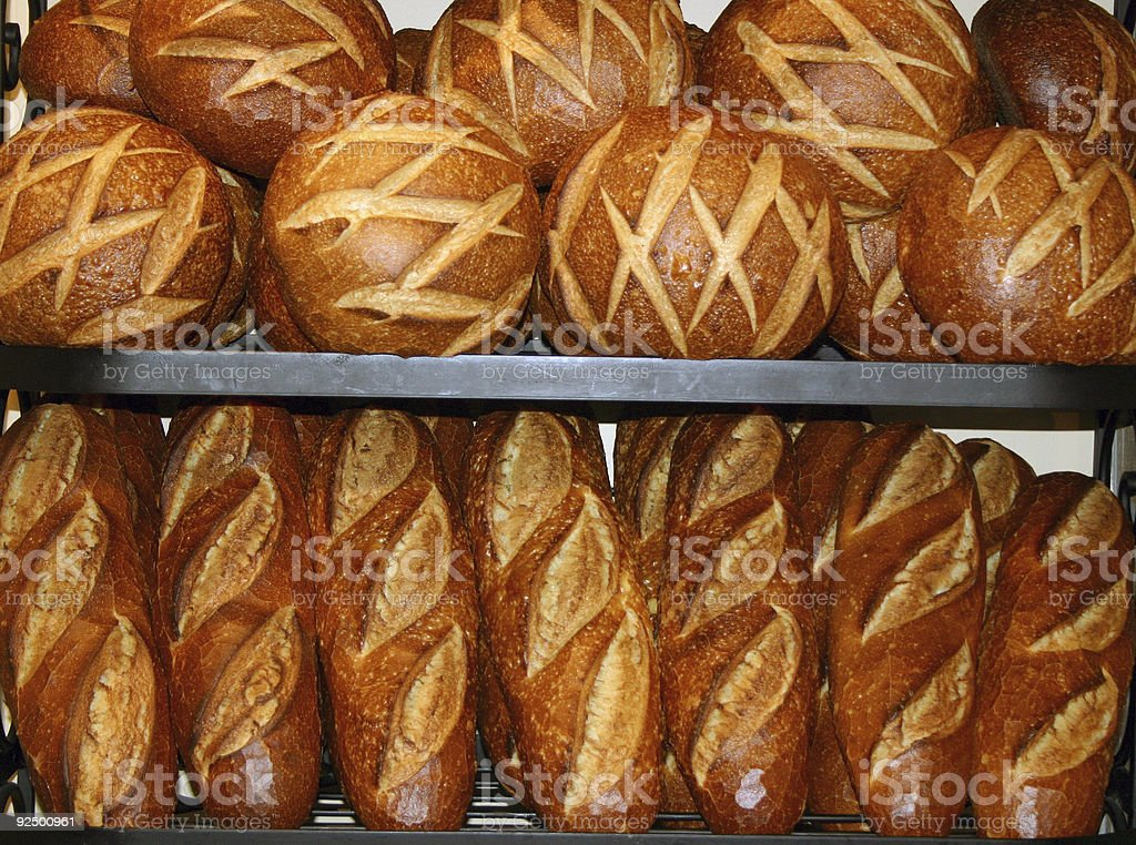 Bread Stacked Up royalty-free stock photo